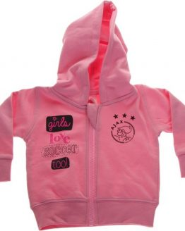 Ajax baby hooded sweatvest - roze - maat 68