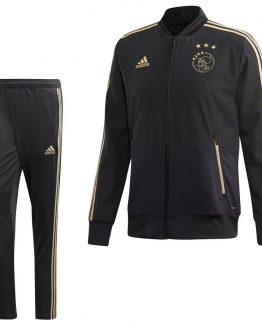 adidas Ajax Presentatie Trainingspak 2018-2019 Carbon Raw Gold