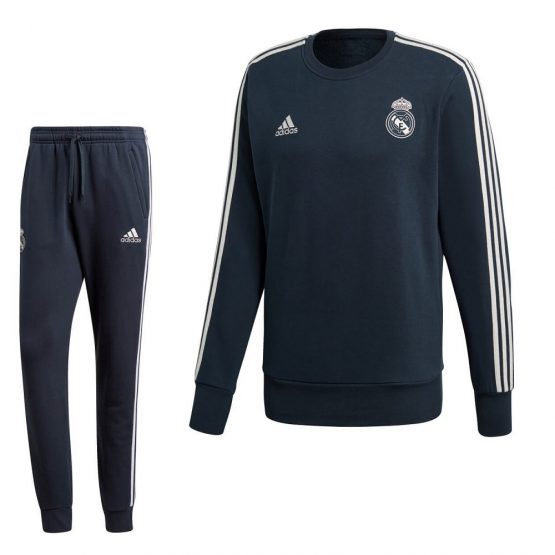 adidas Real Madrid Sweat Trainingspak 2018-2019 Teconi Cream White
