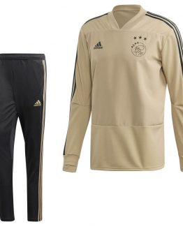adidas Ajax Top Trainingspak 2018-2019 Raw Gold Carbon