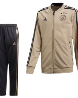 adidas Ajax Trainingspak 2018-2019 Kids Raw Gold Carbon