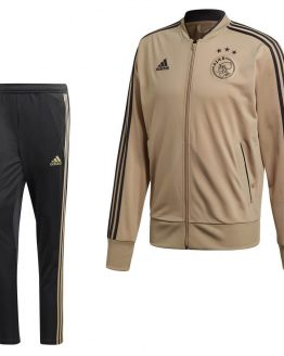 adidas Ajax Trainingspak 2018-2019 Raw Gold Carbon