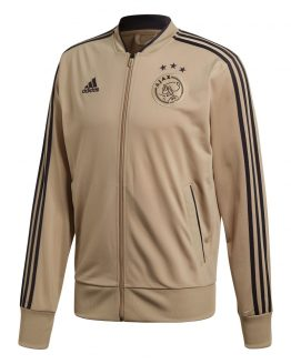 adidas Ajax Trainingsjack 2018-2019 Raw Gold Carbon