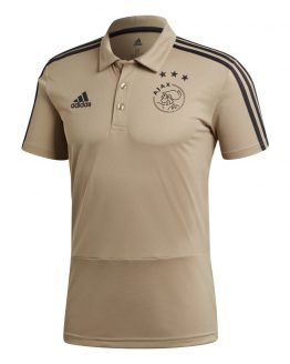 adidas Ajax Polo 2018-2019 Raw Gold Carbon