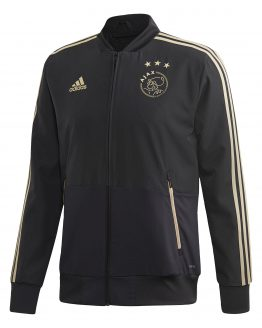 adidas Ajax Presentatie Trainingsjack 2018-2019 Carbon Raw Gold