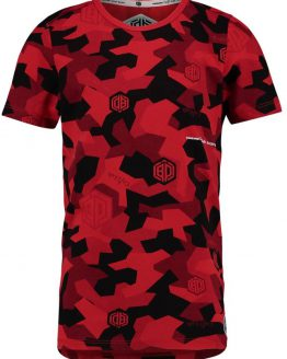 Vingino Daley Blind Jongens T-shirt - Flame Red - Maat 152