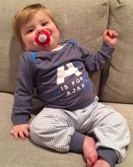 Ajax Baby Pyjama A Is For Ajax Blauw Maat 74/80