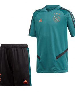adidas Ajax Trainingsset 2019-2020 Zwart Groen Kids