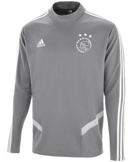 adidas Ajax Trainingstrui 2019-2020 Kids Grijs Wit