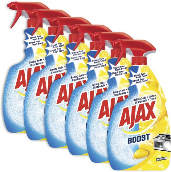 Ajax Boost Soda & Citroen spray 6 x 750ml