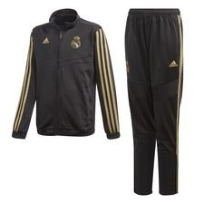 Real Madrid Trainingspak PES - Zwart/Goud Kinderen