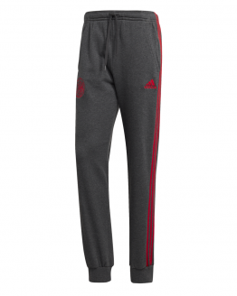 adidas Ajax 3S Sweat Joggingbroek 2019-2020 Donkergrijs Rood