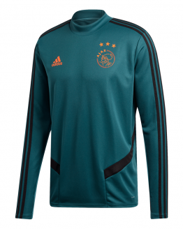 adidas Ajax Trainingstrui 2019-2020 Groen Zwart