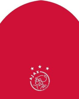 Ajax muts - rood - voetbal - one size