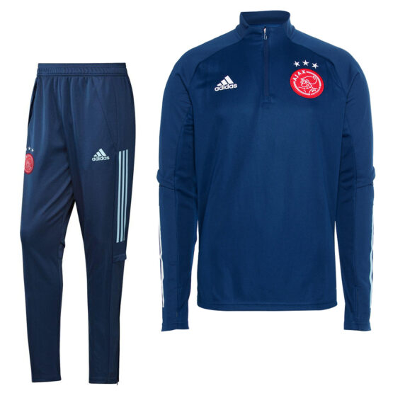 adidas Ajax Top Trainingspak 2020-2021 Donkerblauw